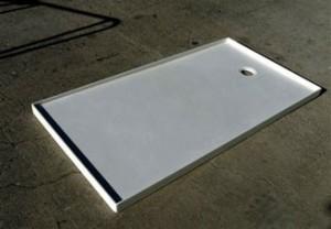 flat shower pans marble