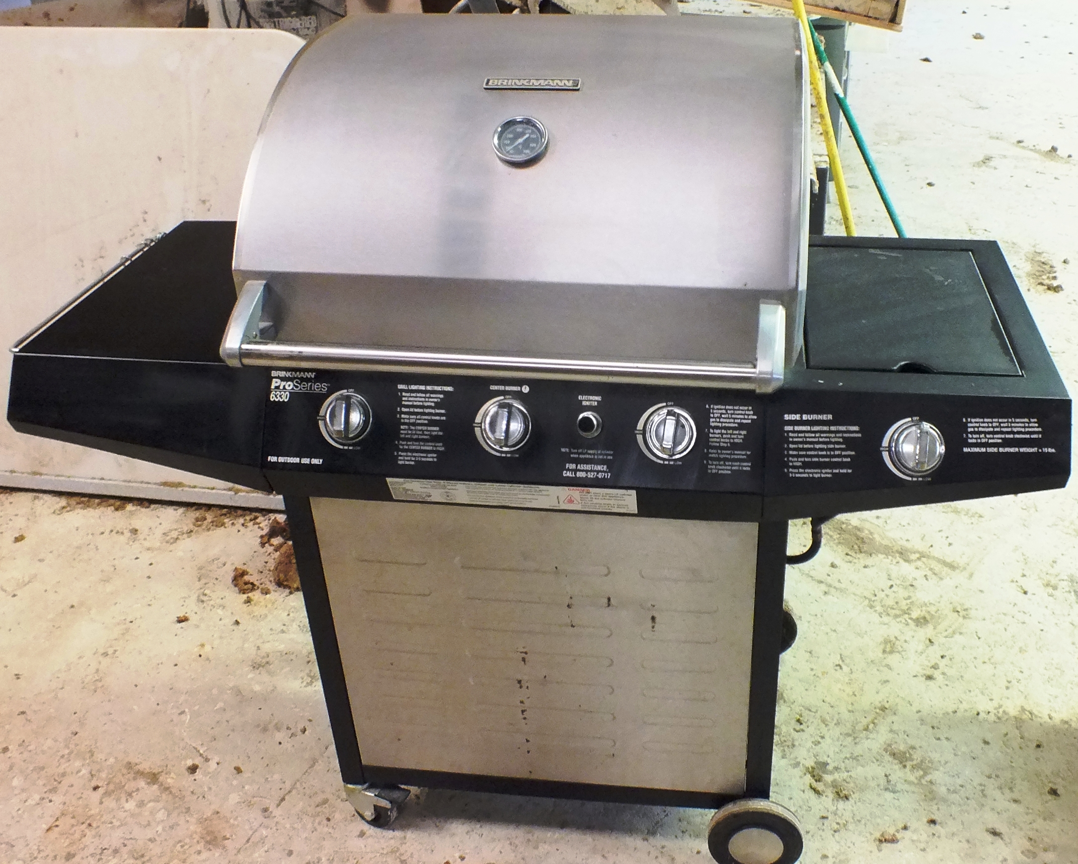 Gas Grill – Brinkman 3 Burner Plus Side Burner – $150.