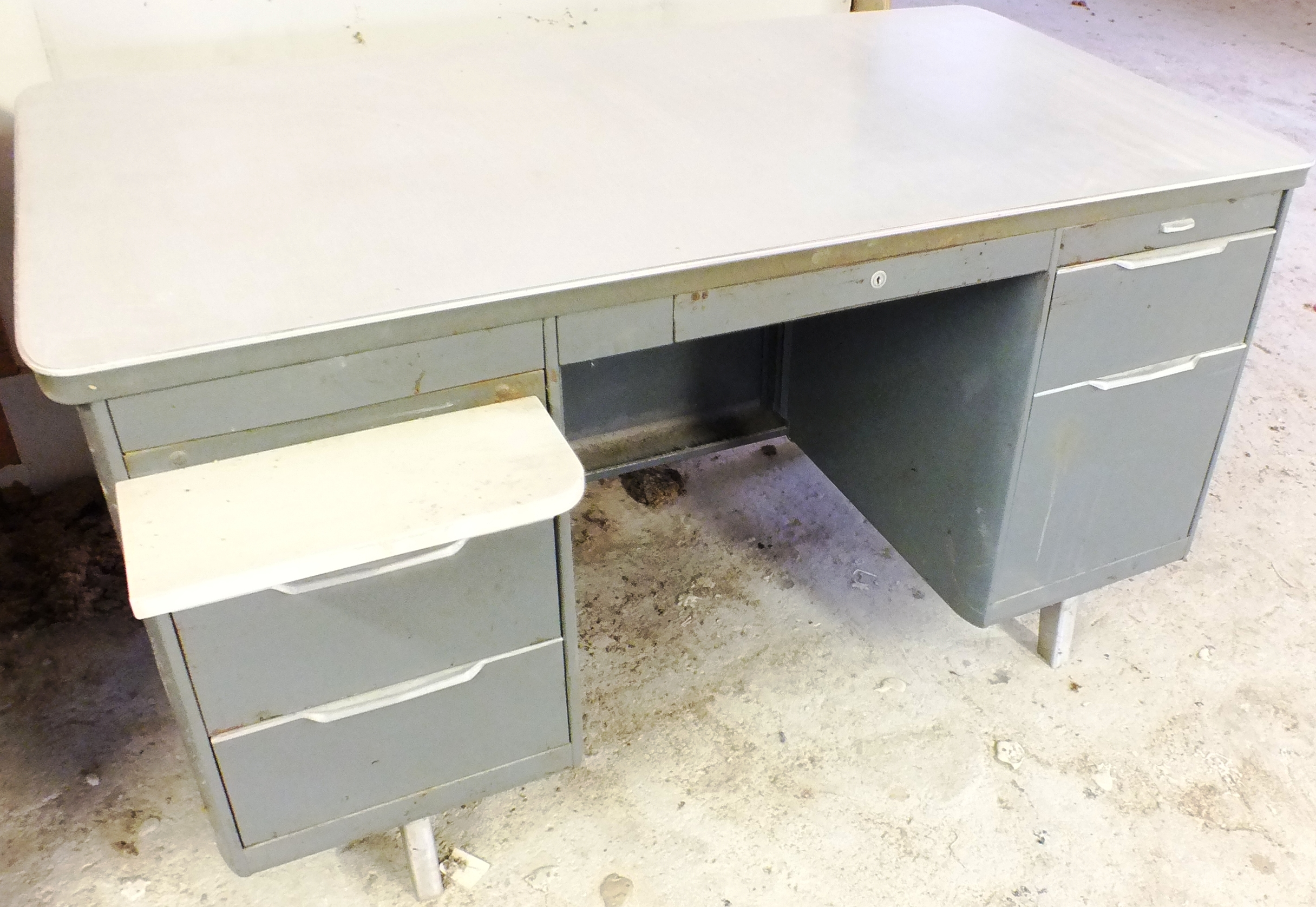 Retro Steel Desk – 55.5 x 30 – $95.00